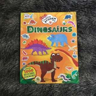 Buku sticker Dinosaurs 1000 Reuseable Sticker