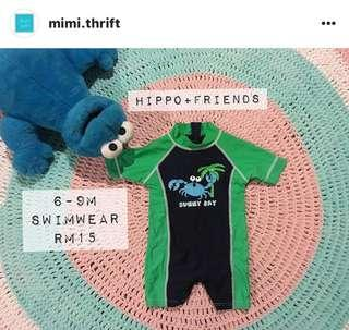 Swimwear (Hippo+Friends) 6-9m