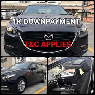 Mazda 3. $1,000 Downpayment ONLY!! Limited Units! Used Car.