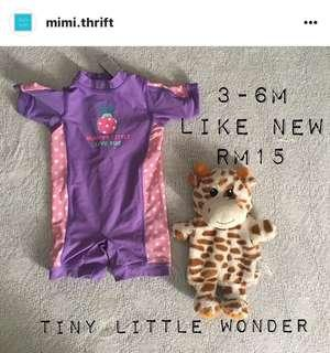 Swimwear (Brand : Tiny Little Wonders) 3-6m