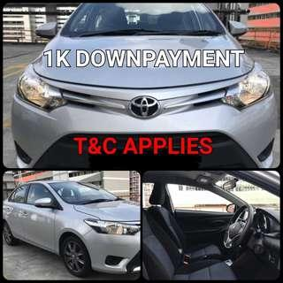 Toyota Vios. $1,000 Downpayment ONLY!! Limited Units! Used Car.