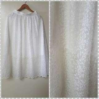 H&M skirt lace white