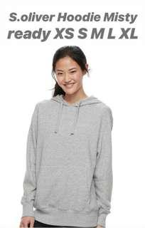 FULL LABEL Hoodie S.Oliver - Misty Grey