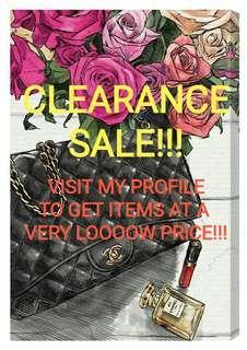 Clearance Sale!!