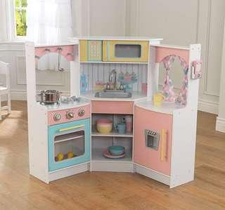 (PO) BN KidKraft Kids Ultimate Corner Kitchen Playset, Pastel Colours & White