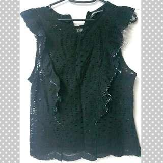 PNK MNLA black lace top