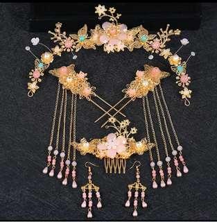 中國式新娘子頭飾