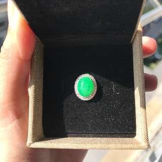 翡翠鑽石戒指