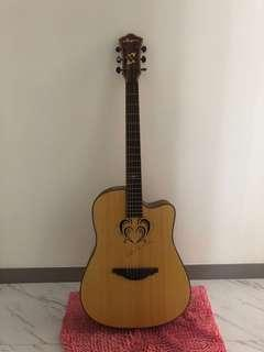 Brand new carving acoustic guitar