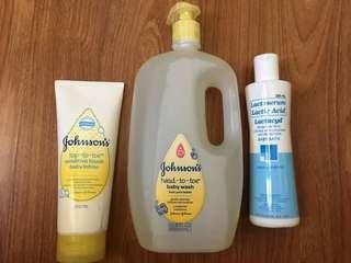 Unused Johnsons Moisturizing lotion for sensitive baby