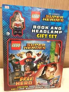 Lego Super Heroes Book and Headlamp Gift Set