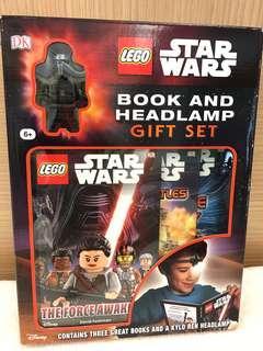 Lego Starwars Book and Headlamp Gift Set