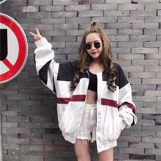 Harajuku Colour block Windbreaker Jacket
