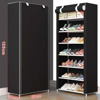 8 tier shoe rack with black cover (SRC)