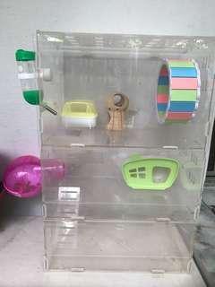 Acrylic Hamster Cage