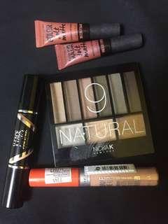 Makeup eyeshadow contour concealer lip matte