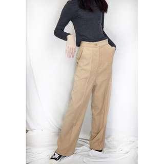 韓國單高腰西裝款長褲