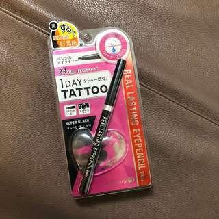 (包平郵)全新黑色1Day Tattoo眼線液