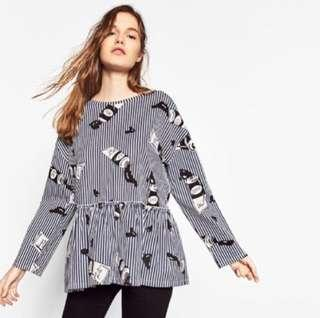 Zara Striped Oversized