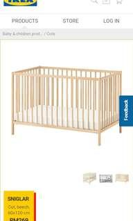 Ikea Baby Cot + Mattress - used