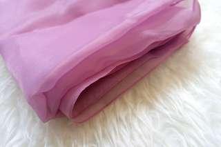 Hijab Ungu Purple Lavender Organza
