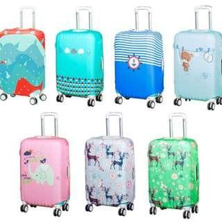 (Medium) Luggage Cover 7 Designs Assorted
