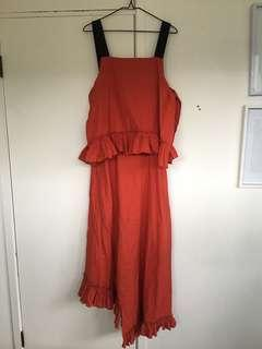 NEW asos red maxi dress