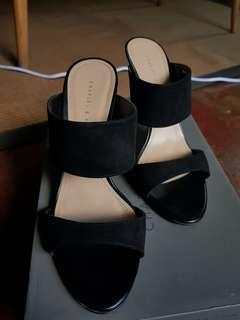 Authentic Charles and Keith Heels Open-Toe Slip-On