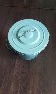 Knodd turquoise Ikea storage metal bin