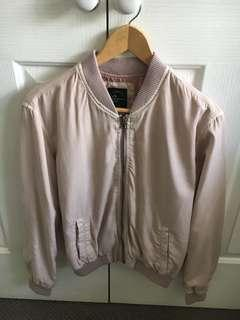 Pink bomber jacket size 10 all about Eve