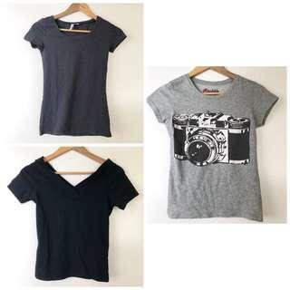 Round neck camera t shirt, off shoulder shirt , plain shirt , tee