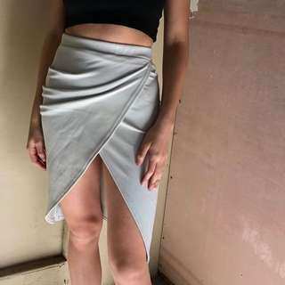 Blueish grey Midi tight skirt
