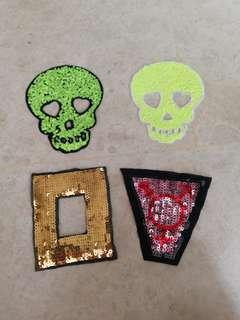Iron On Sew On Sequin Patch