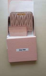 Authentic miumiu mauve coloured wallet