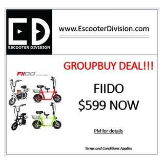 FIIDO ELECTRIC SCOOTER GROUP BUY SALES!!!!!