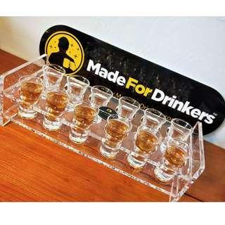🚚 Acrylic Tray with Shot Glasses
