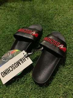 H&MOSCHINO MTV SLIDES WITH EMBROIDERY