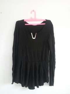 Babydoll Black Top