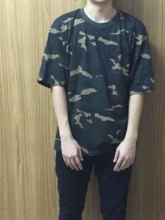 🚚 迷彩 五分袖T恤