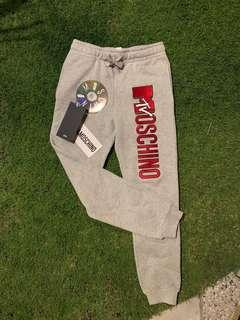 H&MOSCHINO MTV EMBROIDERED JOGGERS