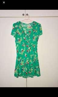 MNG GREEN FLORAL DRESS