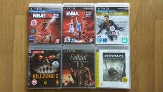 PS3 Games RM20 Each