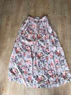 New look floral spring skirt