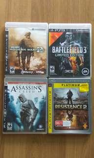 PS3 Games RM25 Each