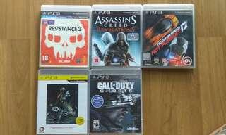PS3 Games RM30 Each