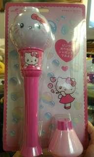 🚚 日本環球 自動泡泡機 kitty bubble wand