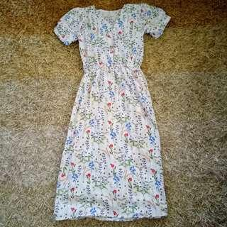MERA white Floral dress
