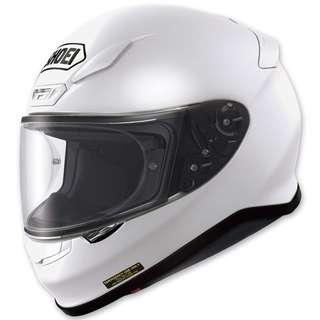 Shoei RF-1200 SIZE LARGE ONLY White Motorcycle Motorbike Full Face Helmet DOT Approved