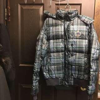 🚚 BF1 racing team 格紋羽絨連帽外套 原價近7千