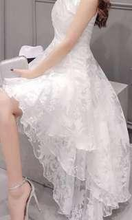 White lace wedding/deb dress